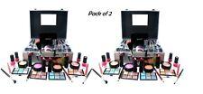 2x Technic Cosmetic Beauty Vanity Case Make Up Storage Box Ladies Xmas Gift Set