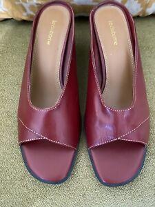 Liz Claiborne Leather Peep Toe Shoes 9.5M