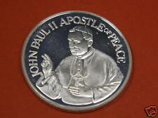 PAPAL  TO USA 1987    1 Troy Once Silver Round  .999 Fine Silver Bullion