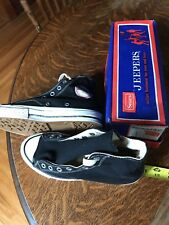 Sears Jeepers converse black label Vintage Basketball Antique Shoes High top NIB