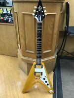 1998 EPIPHONE FLYING V KORINA 1958 REISSUE ELECTRIC GUITAR Gibson Korea Vintage.