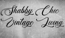 SHABBY CHIC VINTAGE STENCIL SCHABLONE COFFEE MÖBEL WAND TEXTIL GARDINEN HOLZ