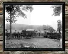 "Spectacular... Antique Steam Tractor & Thresher... 8"" x10"" Photo Print"