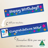 Personalised Happy Birthday Party Banner Supplies Canvas Fabric Decorations