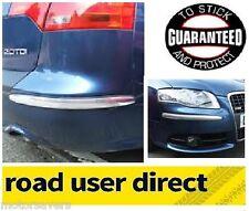 E-TECH Chrome Car Bumper Protectors - 2 Piece Pack - Free Delivery