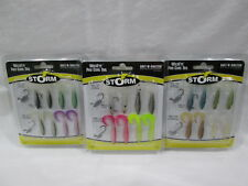 "NEW STORM 'WildEye Pro Curl Tail' BaitNSwitch 1 1/2"" Swimbait Kit ( Lot of 3 )"