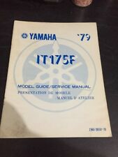 Yamaha IT175F Model Guide Service Manual