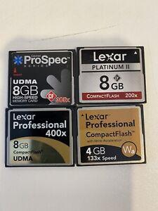 CF Camera Cards Lexar professional 8gb 4gn