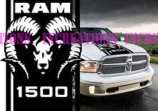 Hemi Dodge Ram 1500 Hood Stripe Truck Decals Mopar Stickers Vynil Car Graphics