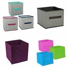 Pack 2 Collapsible Storage Containers with Handles Organize Bins Box Dividers