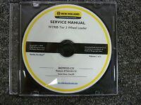 New Holland Model W190B Tier 3 Wheel Loader Shop Service Repair Manual CD
