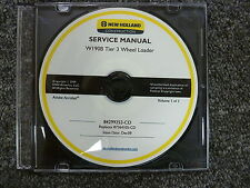 New Holland Model W190B Tier 3 Wheel Loader Shop Service Repair Manual CD