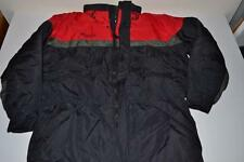 COLUMBIA SPORTSWEAR BLACK RED HEAVY WINTER COAT JACKET MENS SIZE LARGE L