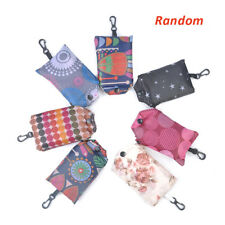 1x Grocery Storage Handbag Reusable Key Chain Tote Pouch Shopping Bag Foldable H