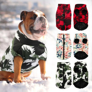 Waterproof Dog Coat Jacket for Winter Apparel Warm Padded Puffer Clothes Pitbull