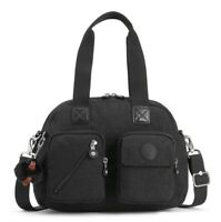 BORSA KIPLING DEFEA UP KI2500 TRUE BLACK J99 TRACOLLA NUOVA SCONTATA