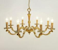 Stunning antique FRENCH GILT BRONZE CHANDELIER 8 light ceiling lamp