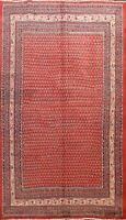 Vintage Paisley Traditional Hand-knotted Area Rug Wool Oriental Dining Room 7x10