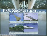 GRENADA  2013 FINAL FLIGHT OF THE CONCORDE   SHEET  MINT NH