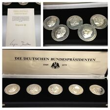 5 x Medaillen Feinsilber 999er Silber Silbermünzen DEGUSSA Bundespräsidenten