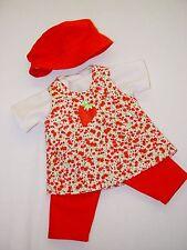 Für my first Baby Annabell Puppe 36 cm Kleidung Puppenkleidung Tunika-Set 4-tlg