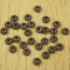 70pcs copper-tone daisy flower spacer beads h1877
