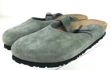 Birkenstock Womens Boston Soft Footbed Gray Mules EUR 38