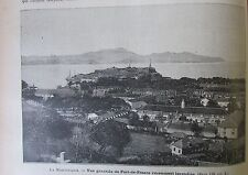 JOURNAL DES VOYAGES N° 685 de 1890 MARTINIQUE VUE FORT DE FRANCE / INDIENS