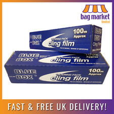 More details for 2 rolls x strong kitchen/catering cling film | 300mm x 100m | food wrap/wrapping
