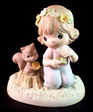 """Precious Moments """"July"""" Daisy Wide Eyed Innocent Porcelain Figurine #101522"""