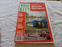 Which Kit Car Magazine Jan 1991 Tiger 6 Porsche Speedster Cobra Classic Retro