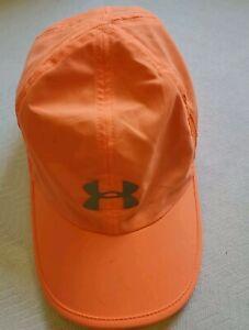 Women's Under Armour UA Launch Run Cap  Orange Running Safety Light Weight