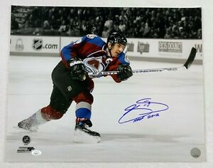 Joe Sakic 16x20 Autographed Photo HHOF Inscription LSM JSA COA