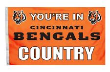 Cincinnati Bengals 3x5 Country Design Flag [New] Nfl Banner Sign Fan Wall House