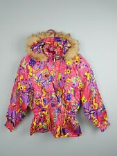 1f59fb0015 VTG RETRO WOMENS CRAZY BRIGHT BOLD ATHLETIC SPORTS WINTER SKI COAT JACKET  UK 6