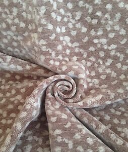 6 Metres Soft Chenille Curtain & Upholstery Fabric In Truffle & Mink