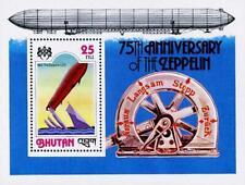 Bhutan 1978 Zeppelin docking S/S Sc#245a Mnh Aviation