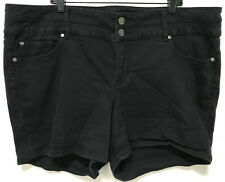 Torrid Black Denim Stretch Shorty Shorts Plus Size 24