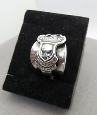 Vintage Rolex Silver Plate Spoon Ring Custom Made Size 9 Adjustable