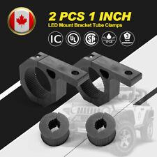 For 1inch Tube 2pcs LED Work Light Bar Mount Bracket Tube Clamps w/Rubber Insert