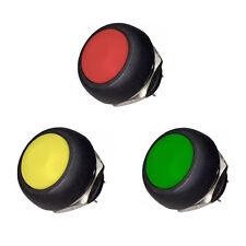 Druck-Taster zufällige Farbe  12mmØ 250V / 6A - Schalter Hupe KFZ