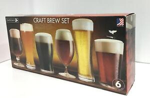 Luminarc Craft Brew Set Of 6 Glasses Assorted Set