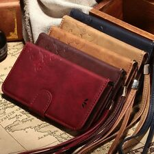 Luxury Leather Wallet Case Stand Flip Cover Vintage for iPhone 5 5S 6 6S Plus