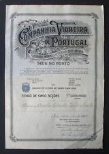 Portugal - Companhia Vidreira de Portugal, 5 Shares, 1922 - *RARE*