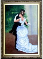 Framed Renoir City Dance Repro, Quality Hand Painted Oil Painting 24x36in