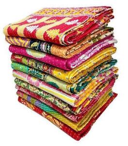 Wholesale Lot kantha Quilt Indian Vintage Bedspreads Cotton Throw Ralli Blanket