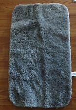 "Long Plush Bathroom Mat Non Slip Absorbent Bath gray Throw Rug 33 x 19"""