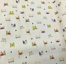 Quilting Treasures Kitty Cats #1649-27924-Z- Kitty Cat Heads -White-By The Yard