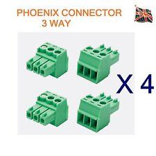 4 LOTTI DI 3 PIN PHOENIX combicon connettore MC Professional AUDIO 3 VIE UK STOCK