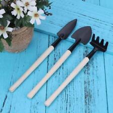 3Pcs Mini Garden Hand Tool Kit Plant Gardening Shovel Spade Rake Trwel Gardener